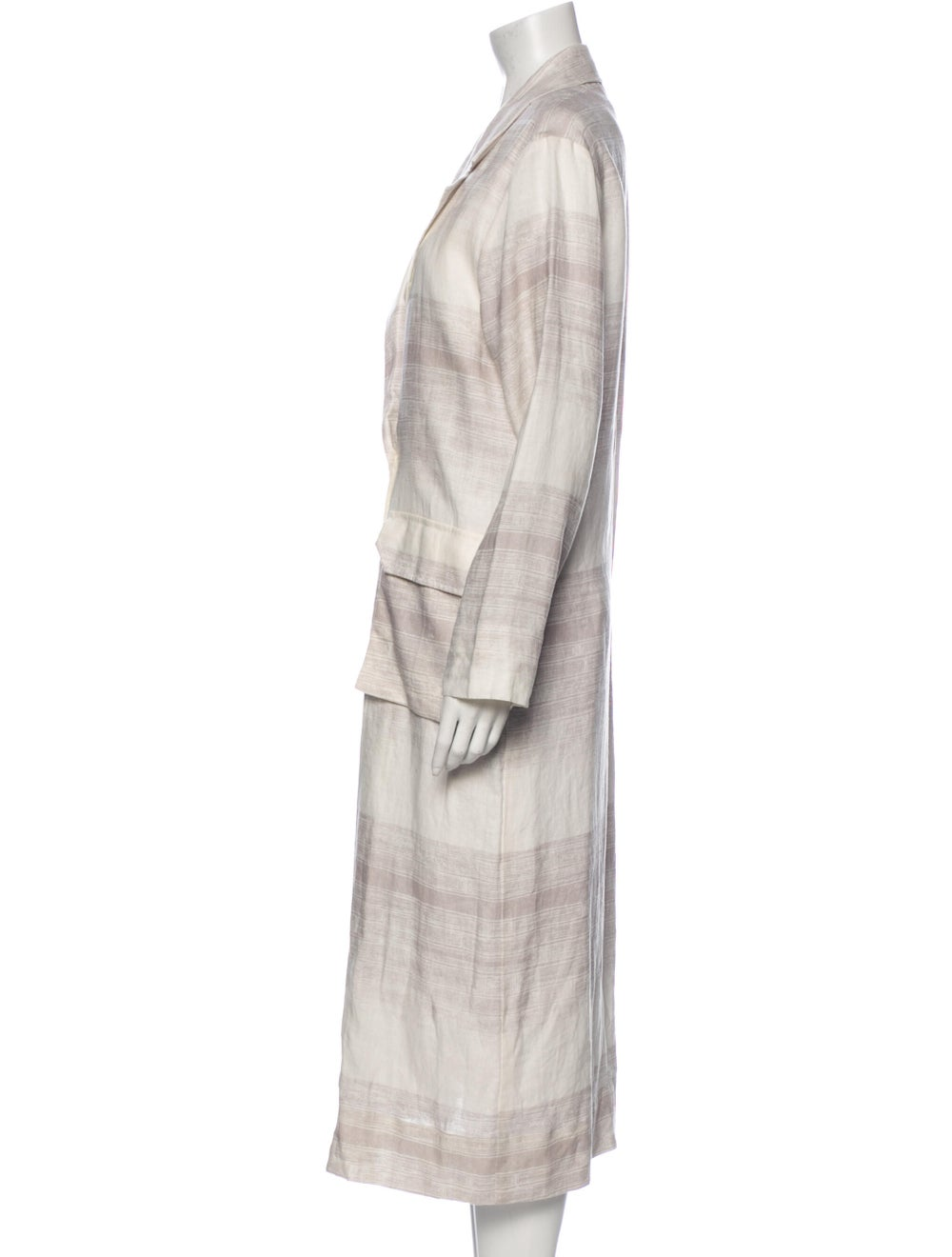 Raquel Allegra Linen Striped Jacket White - image 2