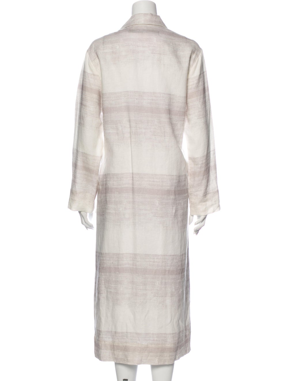 Raquel Allegra Linen Striped Jacket White - image 3