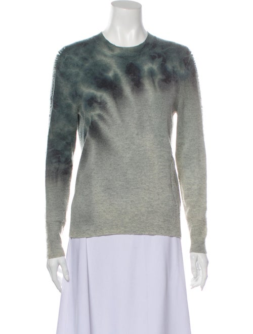 Raquel Allegra Tie-Dye Print Crew Neck Sweater