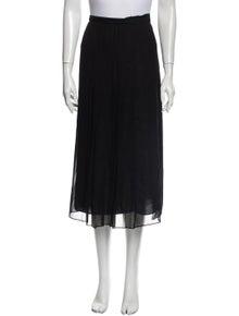 Raquel Allegra Pleated Accents Midi Length Skirt