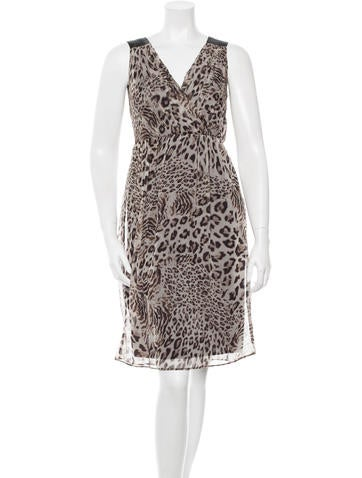 Robert Rodriguez Printed Silk Dress