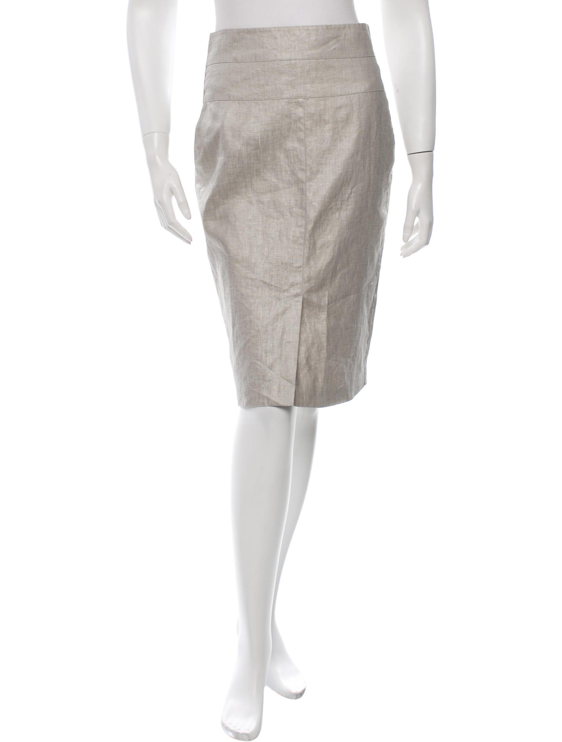 robert rodriguez linen pencil skirt clothing wrr26411