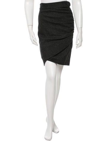 Robert Rodriguez Textured Knee-Length Skirt None