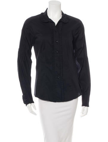 Robert Rodriguez Ruffled Button-Up Top None