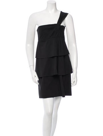 Robert Rodriguez Sleeveless One-Shoulder Dress None