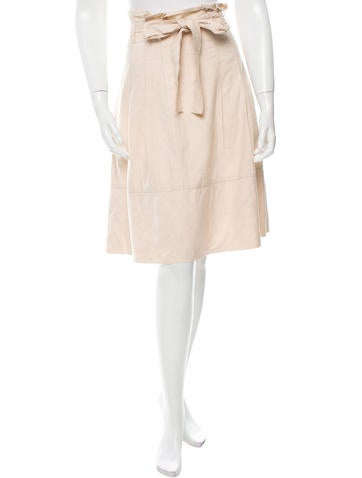 Robert Rodriguez Pleated Knee-Length Skirt None