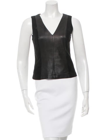 Robert Rodriguez Sleeveless V-Neck Top None