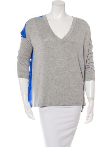 Robert Rodriguez Color Block Short Sleeve Top