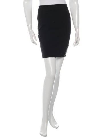 Robert Rodriguez Leather-Accented Mini Skirt