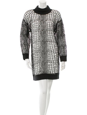 Robert Rodriguez Patterned Lace Dress w/ Tags None
