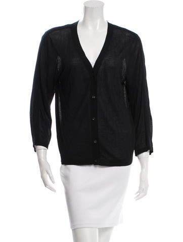 Robert Rodriguez V-Neck Rib Knit Cardigan None