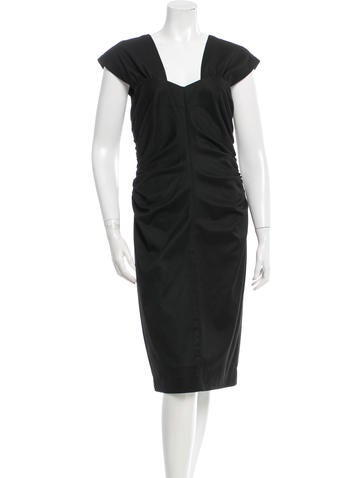 Robert Rodriguez Ruched Sleeveless Dress