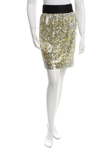 Robert Rodriguez Sequin-Embellished Mini Skirt
