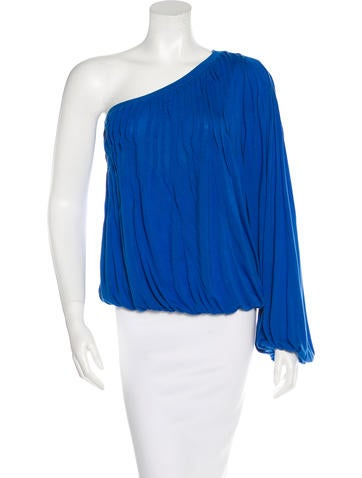 Robert Rodriguez Pleated One-Sleeve Blouse None