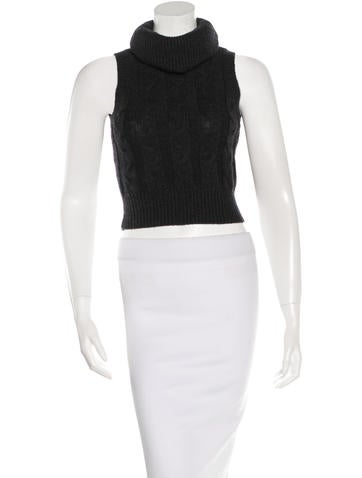 Robert Rodriguez Sleeveless Cable-Knit Top None