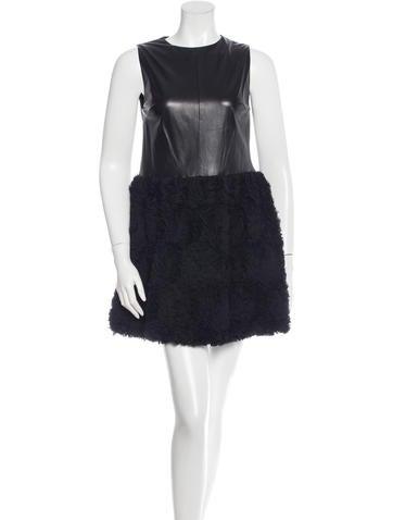 Robert Rodriguez Sleeveless Leather Dress None