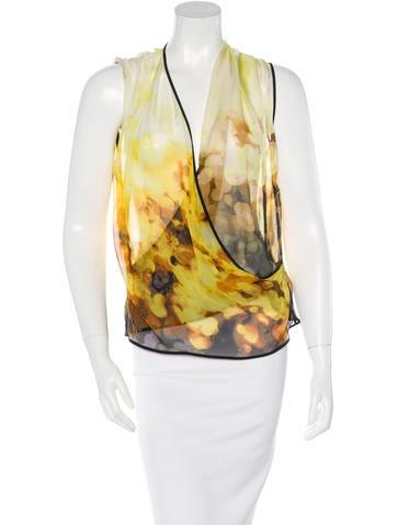 Robert Rodriguez Printed Silk Top None