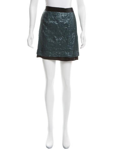 Robert Rodriguez Sequined Mini Skirt None