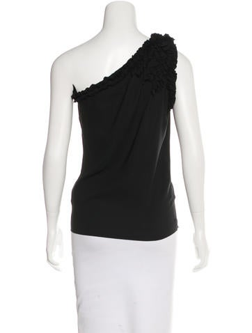 Ruffle-Trimmed One-Shoulder Top