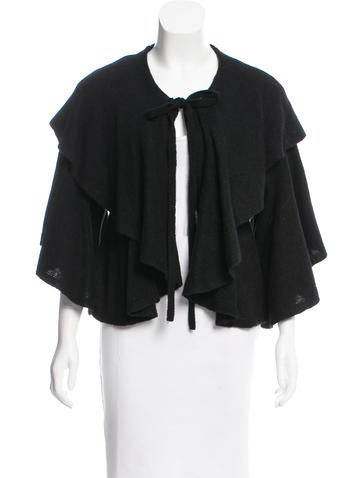 Robert Rodriguez Ruffle-Accented Cropped Shrug w/ Tags None