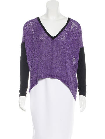 Robert Rodriguez Silk Sequin-Embellished Top w/ Tags None