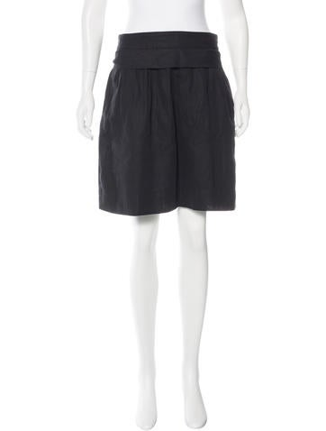 Robert Rodriguez Pleated A-Line Skirt