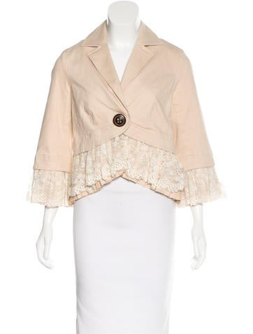 Robert Rodriguez Ruffle-Trimmed Woven Jacket w/ Tags None