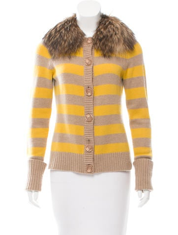 Robert Rodriguez Fur-Trimmed Cashmere Cardigan None