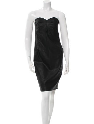 Robert Rodriguez Wool Strapless Dress w/ Tags None