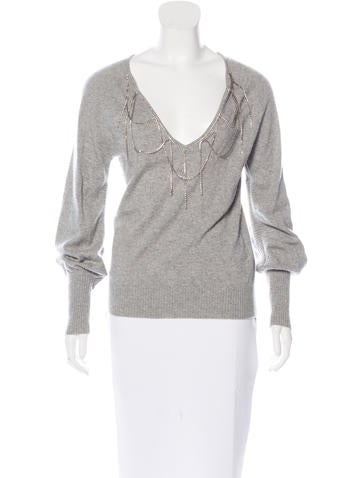 Robert Rodriguez Cashmere Embellished Sweater None