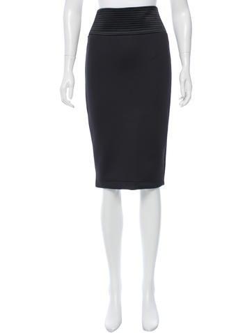 Robert Rodriguez Knee-Length Neoprene Skirt None