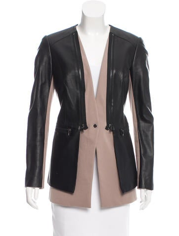 Robert Rodriguez Leather Long Sleeve Top None
