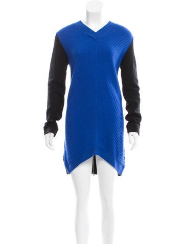 Robert Rodriguez Rib Knit Wool Dress None
