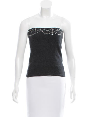 Robert Rodriguez Cashmere Strapless Top None