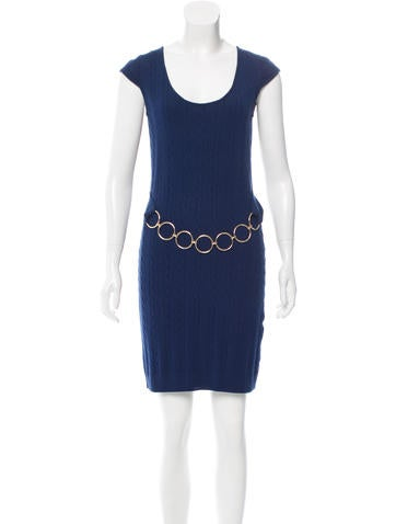 Robert Rodriguez Embellished Cable Knit Dress None