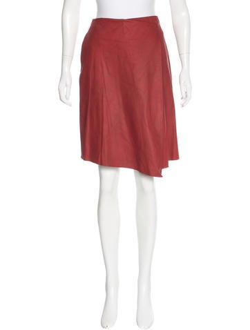 Robert Rodriguez Leather Wrapped Skirt w/ Tags