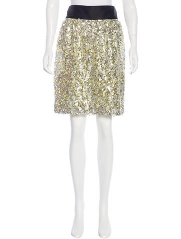 Robert Rodriguez Sequined Knee-Length Skirt None