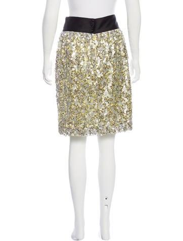 robert rodriguez sequined knee length skirt skirts