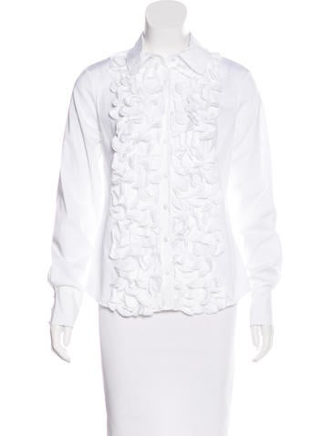Robert Rodriguez Ruffle-Trimmed Button-Up Top None