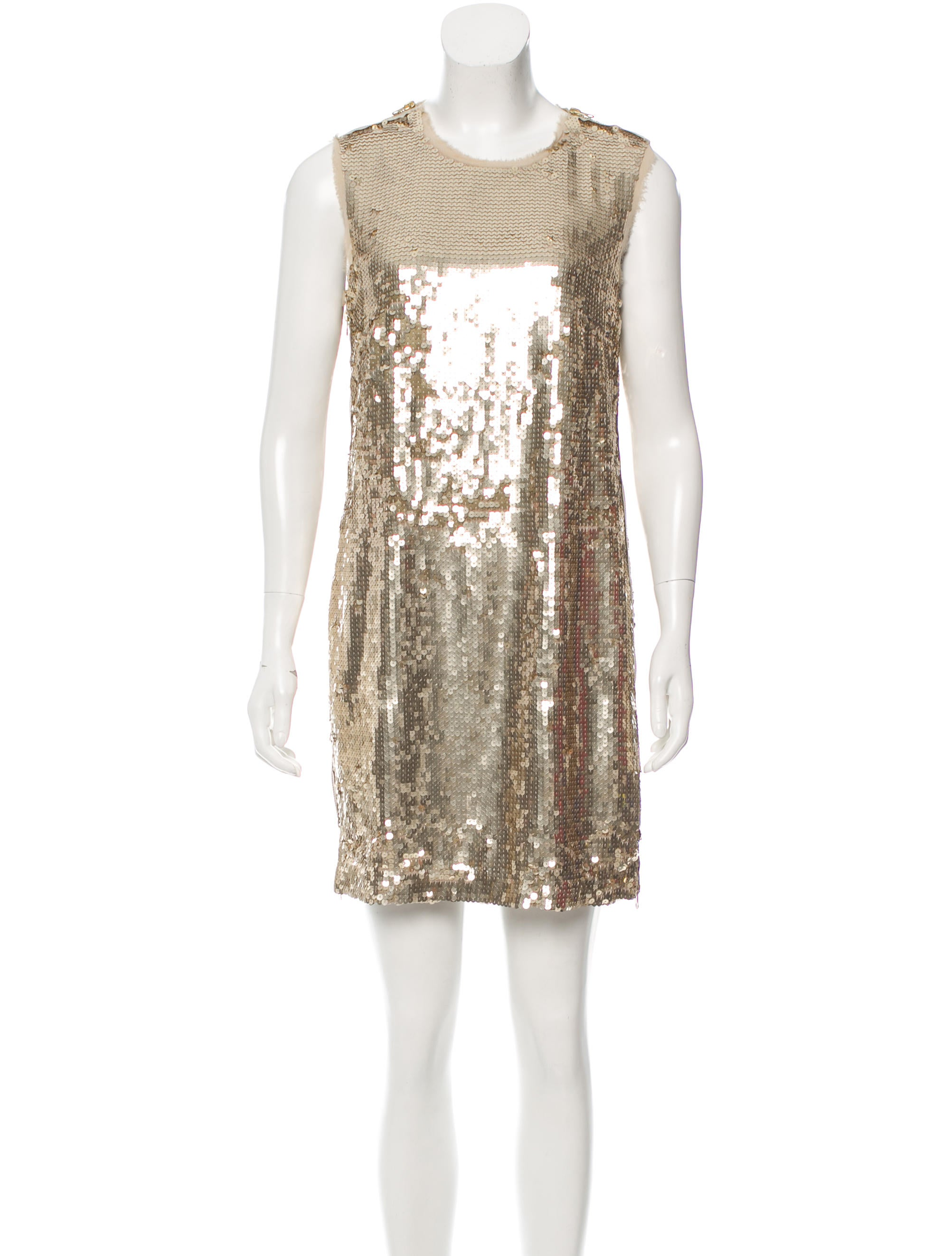 Robert Rodriguez Sleeveless Sequined Dress Clothing Wrr28486 The Realreal
