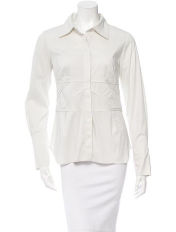 Robert Rodriguez Pleat-Accented Button-Up Top None