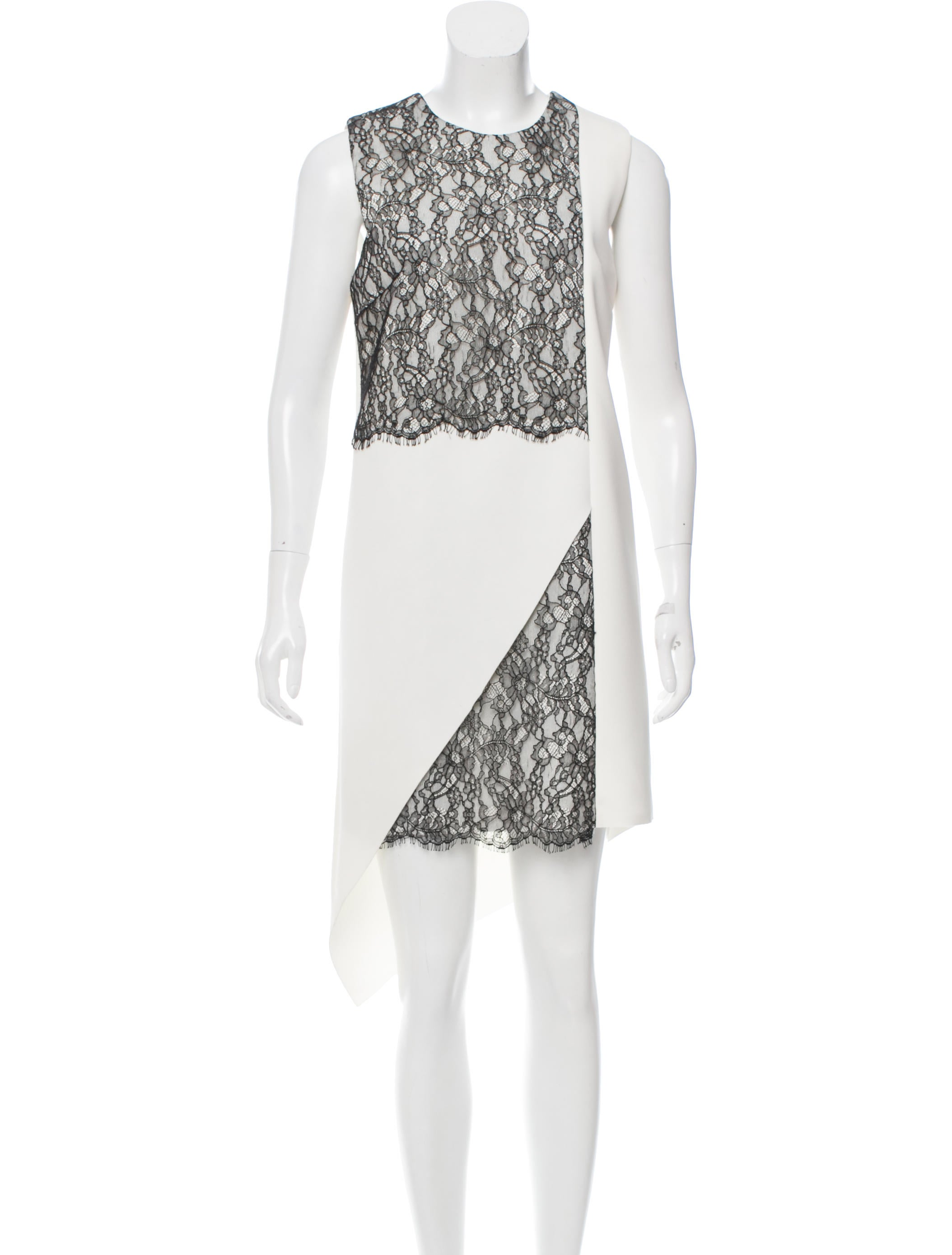 82012e0ac88 Robert Rodriguez Lace-Paneled Asymmetrical Dress w  Tags - Clothing ...