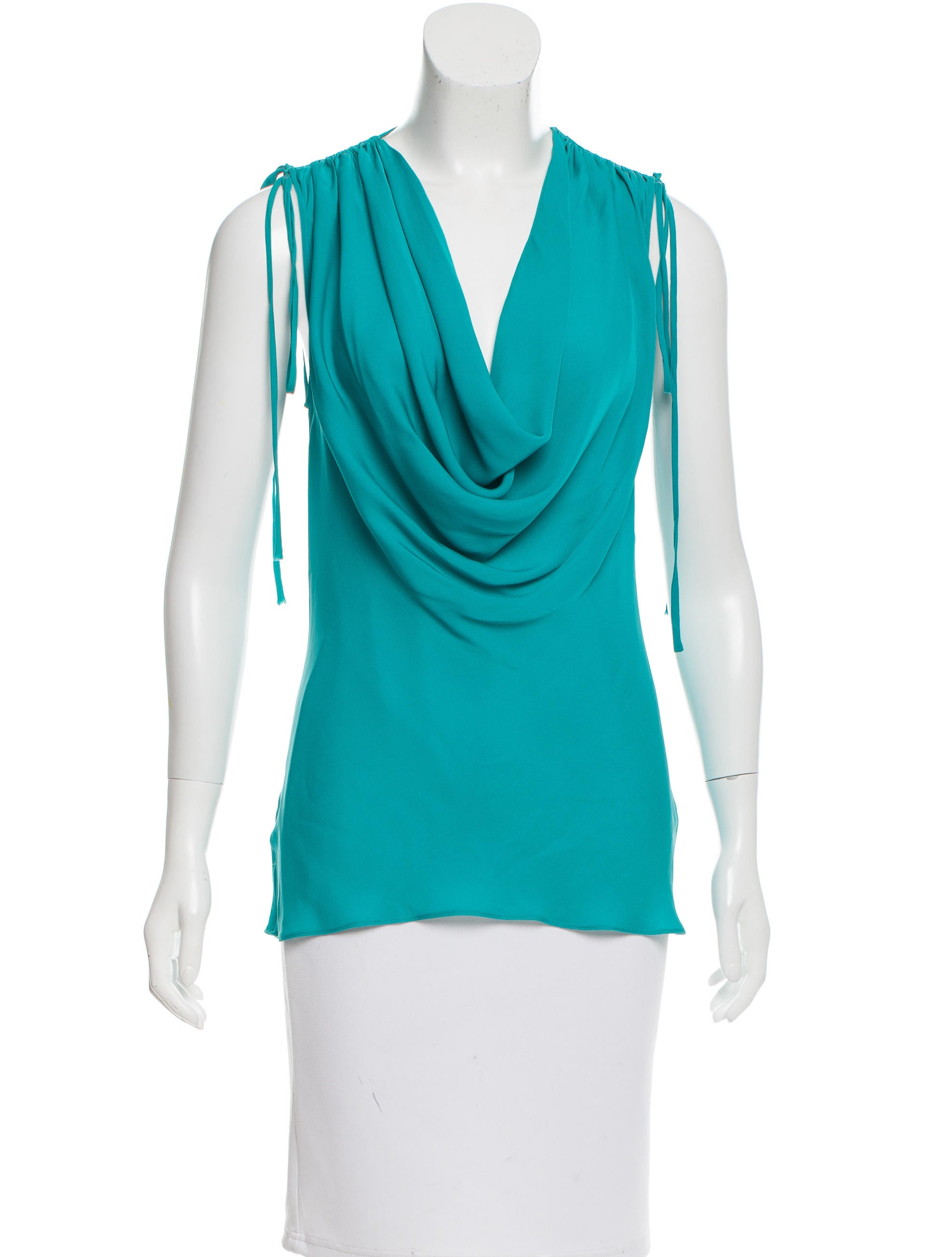 Robert Rodriguez Silk Cowl Neck Top Clothing Wrr28879 The Realreal