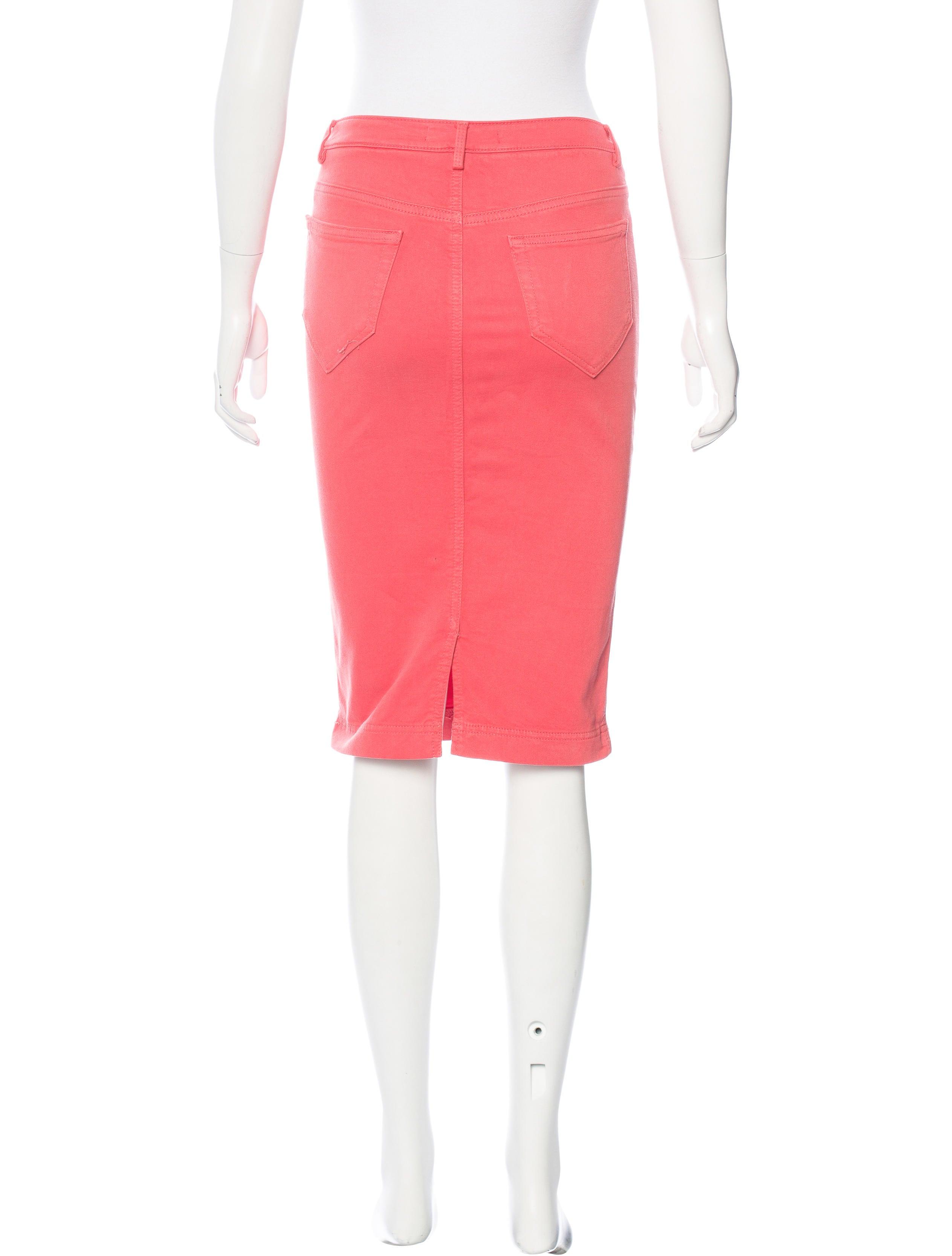 robert rodriguez knee length pencil skirt clothing