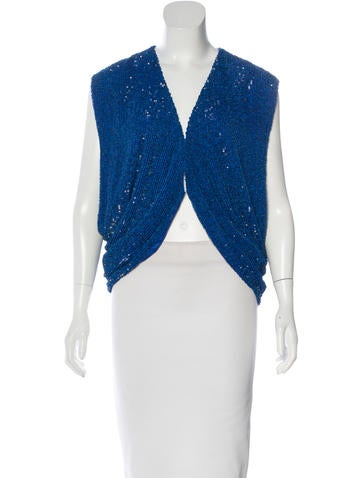 Robert Rodriguez Sequined Silk Top w/ Tags None