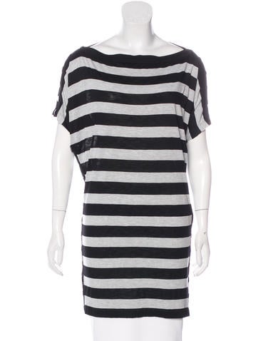 Robert Rodriguez Striped Short Sleeve Tunic None