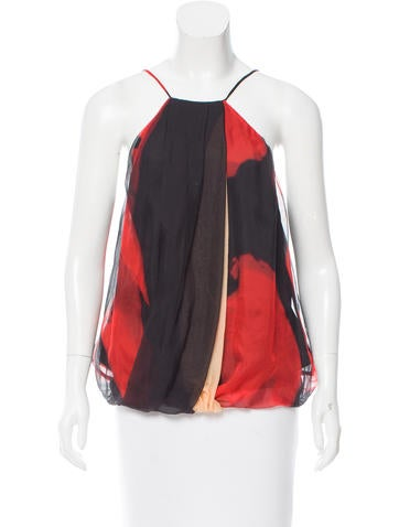 Robert Rodriguez Draped Silk Top None