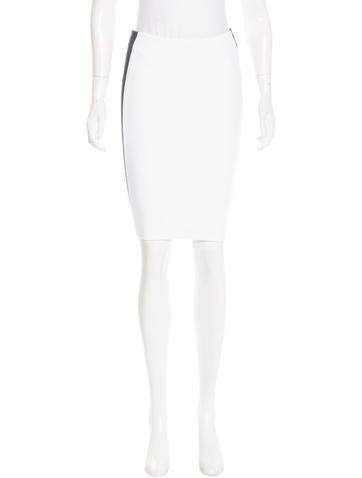 Robert Rodriguez Mesh-Paneled Pencil Skirt w/ Tags None