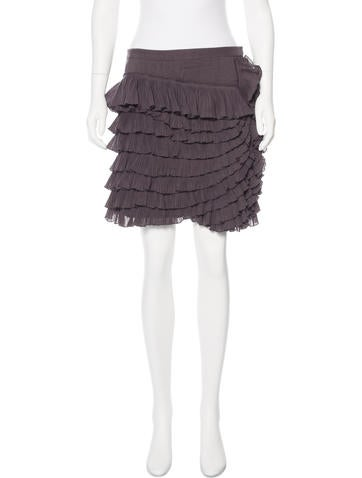 Robert Rodriguez Ruffle-Trimmed Mini Skirt w/ Tags None