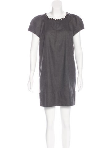 Robert Rodriguez Embellished Wool Dress None